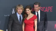 Lake Bell Pierce Brosnan and Owen Wilson at the 'No Escape' Los Angeles Premiere at Regal Cinemas LA Live on August 17 2015 in Los Angeles California