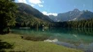PAN Lake beneath the mountains