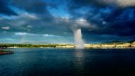 Genfer See und den großen Springbrunnen 01