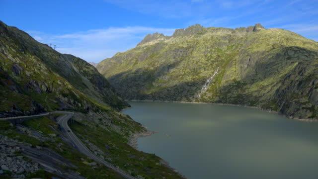 Lake Grimsel and Grimsel Pass Road, Bernese Alps, Switzerland, Europe