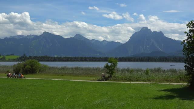 Lake Hopfensee and Saeuling, Fuessen, Swabia, Bavaria, Germany