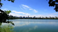 Lake In Central Park At Summertime, New York City