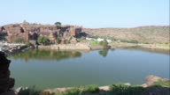 Lake in  South India in the Temple town of Badami