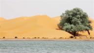 Lake in Tengger Desert/Alashan, Inner Mongolia China.