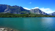 Lake in the Alps, Panning left to right, HD Video