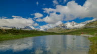 Lake Lai da Vons at Zermatt area of Alps
