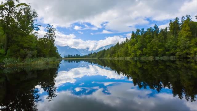 Lake Matheson, time-lapse, Nieuw-Zeeland