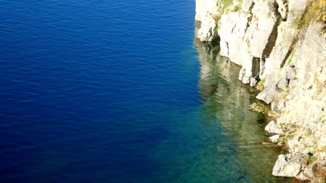 Lake, rocks, coast