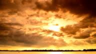 Lake storms evening