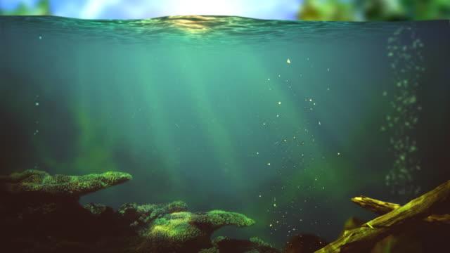 Lake underwater Seamless loop