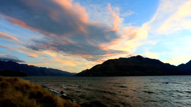 Lake Wakatipu at Sunset, Queenstown, New Zealand