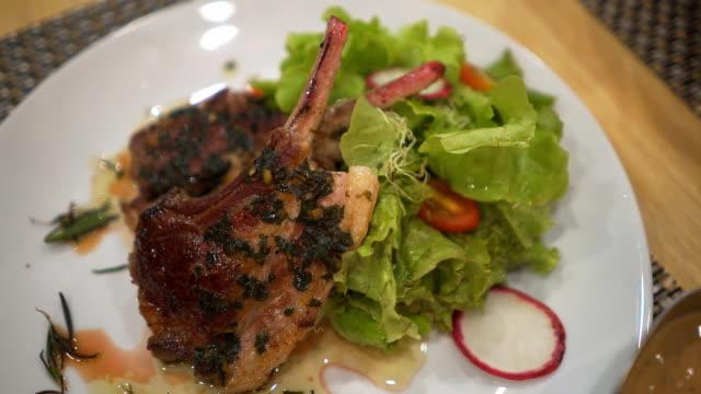 Lamb rack steak