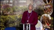 Archbishop Rowan Williams press conference ENGLAND Kent Canterbury University of Kent PHOTOGRAPHY * * Archbishop Phillip Aspinall introducing...