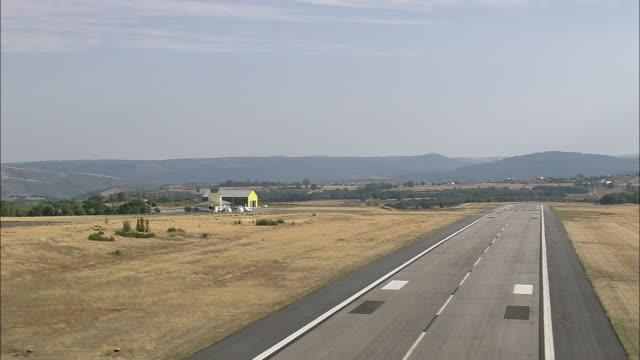 AERIAL WS Landing at Braganca airport / Braganca, Portugal
