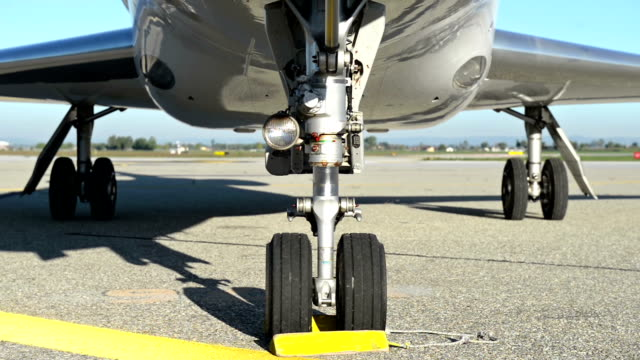 Landing gear of private airplane