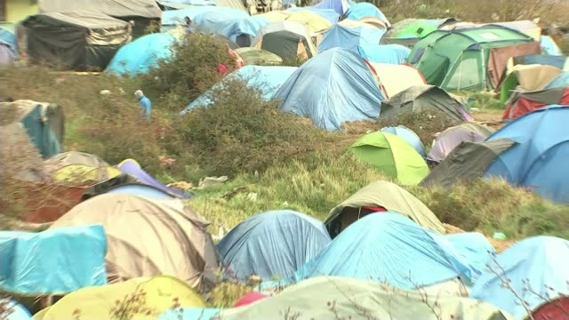 Landmark court ruling could mean hundreds of young refugees in Calais jungle camp are allowed into Britain T12111542 / TX **Anonymous interview...