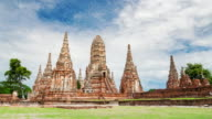 Landmark old temple wat chaiwatthanaram of Ayutthaya Province