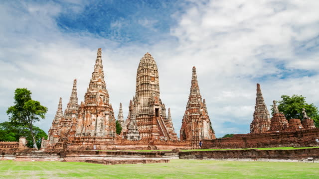 Landmark old temple wat chaiwatthanaram of Ayutthaya Province