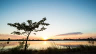 Landscape Lake sunset.