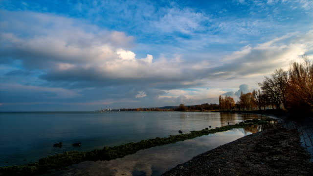 Landscape of Bodensee Lake (Situated in Germany, Switzerland and Austria near the Alps) in Konstanz
