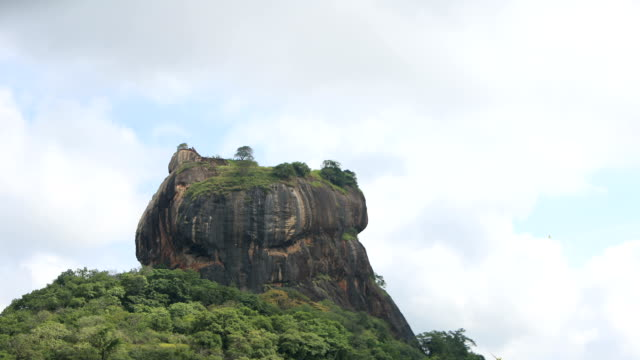 Landscape of Sigiriya rock (an ancient rock fortress) and cloudscape