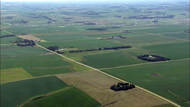 Landscape Of Small Farms  - Aerial View - South Dakota, Hamlin County, United States