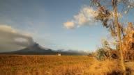 Landscape of volcanic eruption