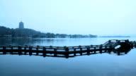 Landschaft des west lake in hangzhou