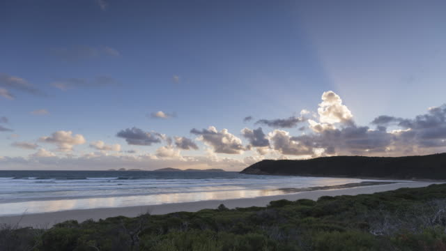 4K Landscapes: Sunset Time-lapse of Wilson Promontory, beach and landscape, Victoria, Australia