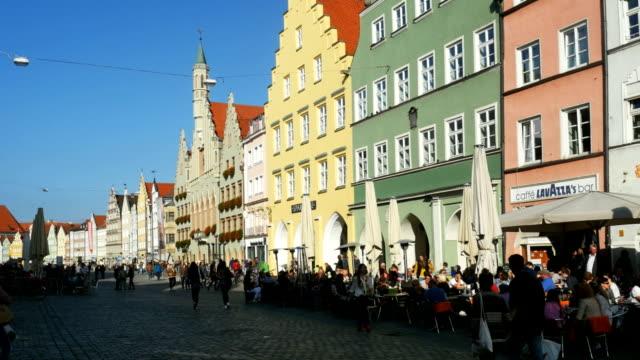 PAN Landshut Altstadt And Town Hall (4K/UHD to HD)