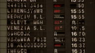 A large board displays train departure information. Available in HD.