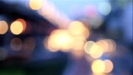 Large bokeh of city lights at night