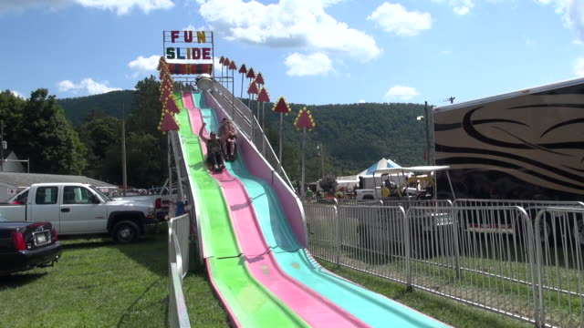 Large carnival slide in daylight