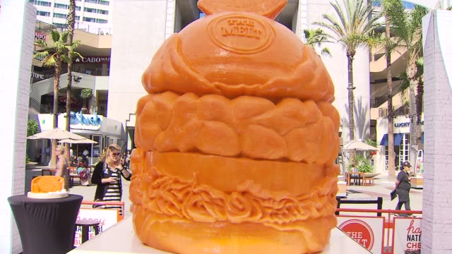 KTLA A large cheese sculpture at Hollywood and Highland has made it into the Guinness World Records The 1500 lbs 4 feet tall was carved out of...