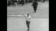Large crowd on the grounds of the Olympic Gold Club in San Francisco for the 66th annual US Open golf competition / Arnold Palmer hits the ball /...