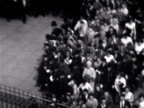 Large crowd rush to gates of Buckingham Palace to see Princess Margaret and her new husband Anthony ArmstrongJones waving from balcony on their...