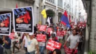 Large crowds gather in Manila to protest President Rodrigo Duterte's implementation of martial law for the southern region of Mindanao
