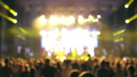 Large group of people at concert.