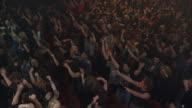 WS CS Large rock concert crowd cheering
