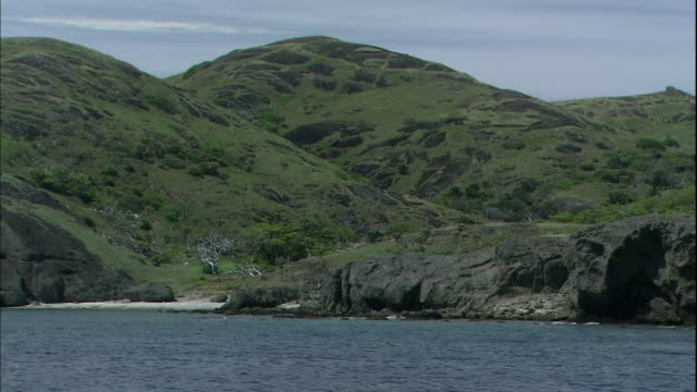 Large rocks line the shores of the Bonin Islands.
