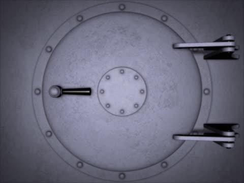 Large round metal door.