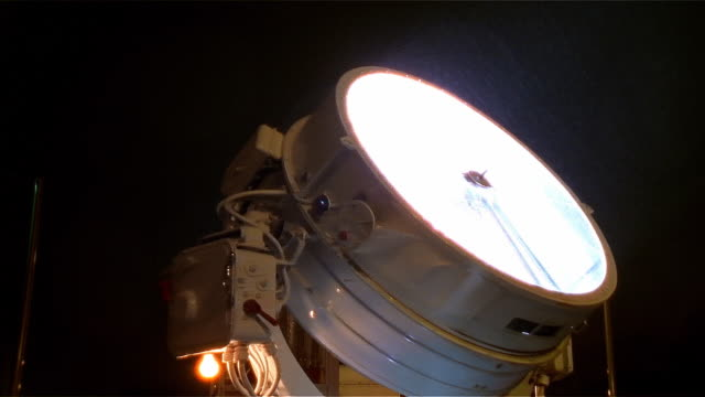 Large spotlight rotating