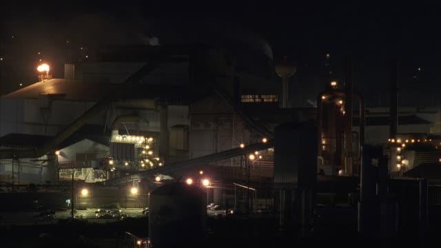 T/L WS HA Large steel mill at night