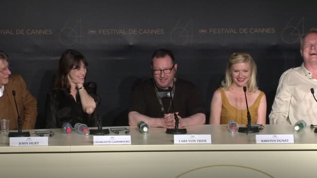 Lars Von Trier talks about Kirsten Dunst playing in his next film as a porn star at the Melancholia Press Conference 64th Cannes Film Festival at...