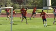 Las Rozas 22 May Spain's national team had a final workout on Tuesday before heading to Austria later in the day Sergio Ramos and Alvaro Arbeloa who...