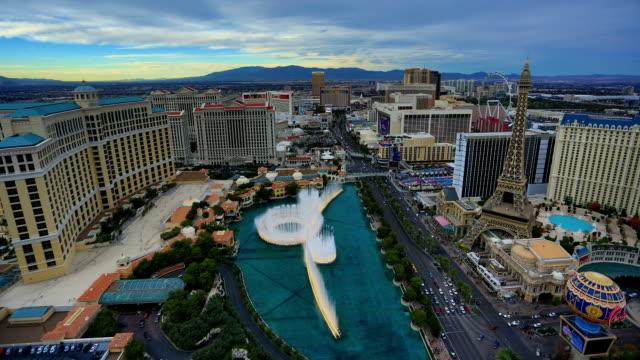 Las Vegas, NV time lapse dal giorno alla notte