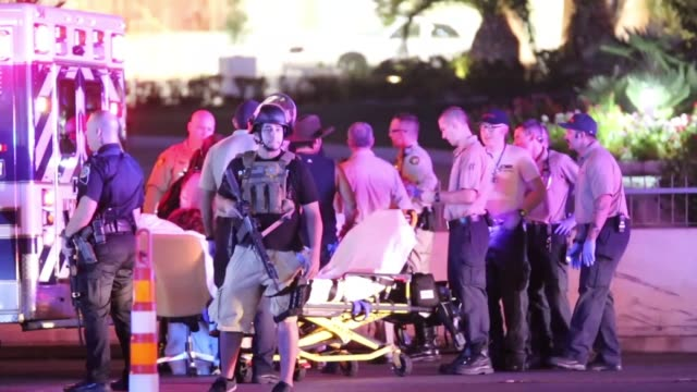 Las Vegas Shooting Atmosphere on October 01 2017 in Las Vegas Nevada