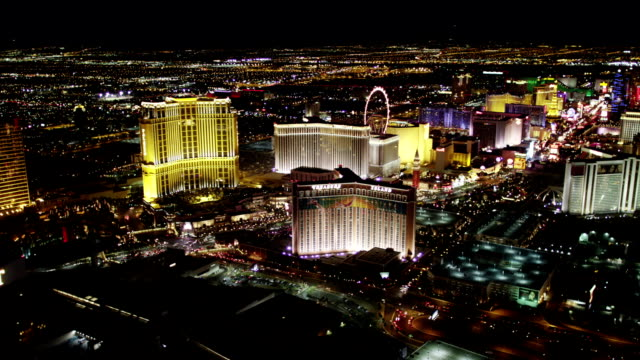 With Aerial view las vegas strip not