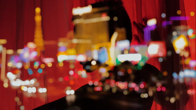 Nachtleben in Las Vegas Strip. Sexy Tanz.