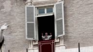 BROLL Last Angelus Blessing of Benedict XVI at St Peter's Square on February 24 2013 in Vatican City Vatican